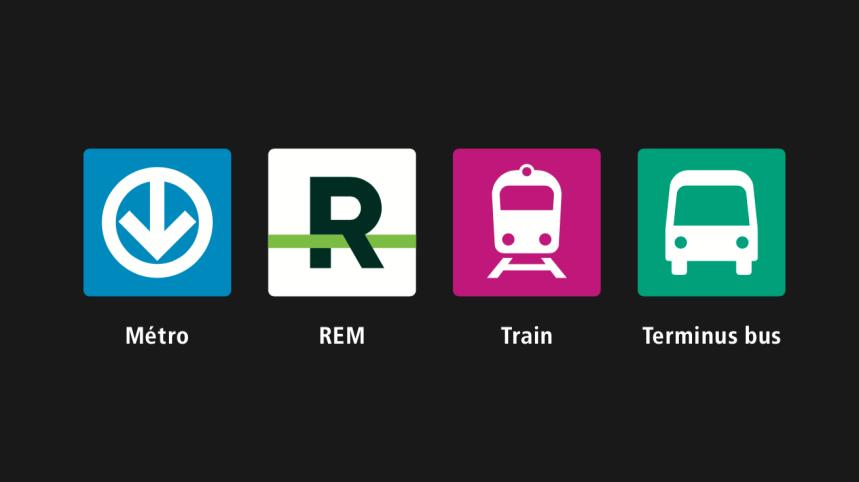 Transport collectif: une nouvelle signalétique unifiée pour le Grand Montréal