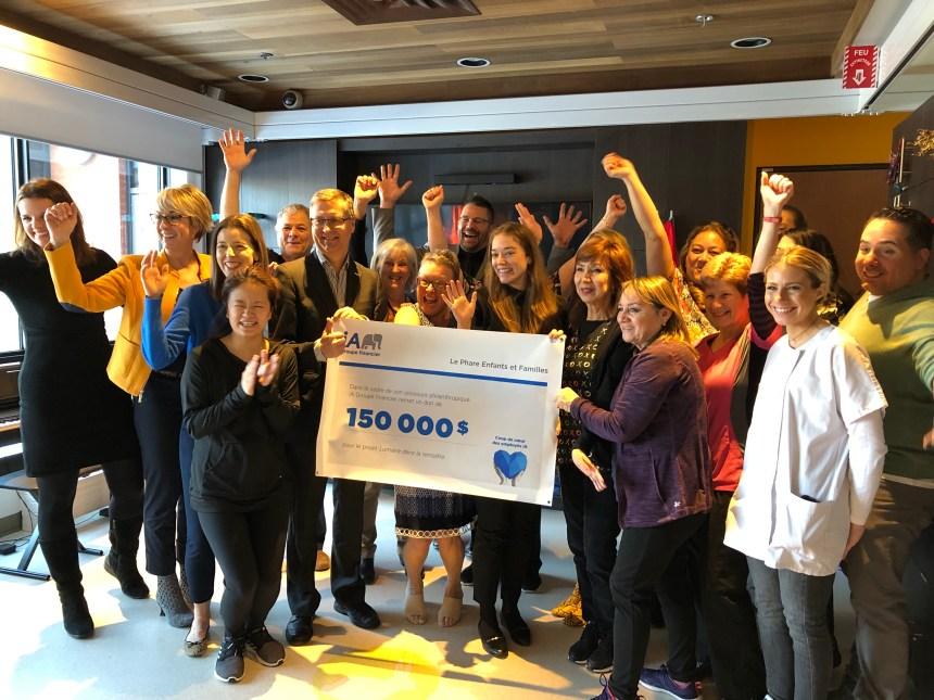 Un organisme d'ici pour les enfants malades remporte 150 000 $