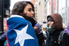Manifestation de soutien à Montréal pour les femmes victimes de violence au Chili