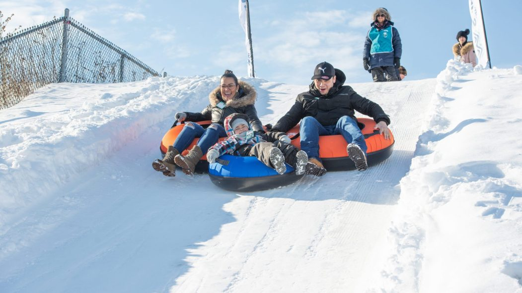 La Pente neige est une station de ski urbaine.