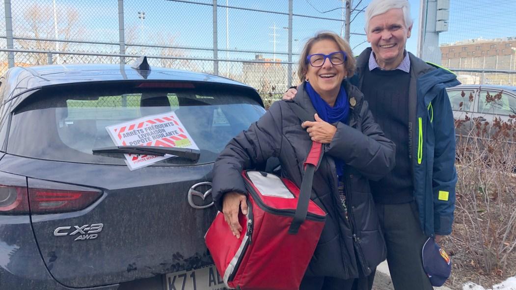 France Dumas et Jean-Claude Létouneau bénévoles de la popote roulante Ahuntsic