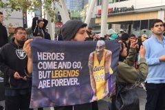 Les citoyens de Los Angeles unis dans le deuil après le décès de Kobe Bryant