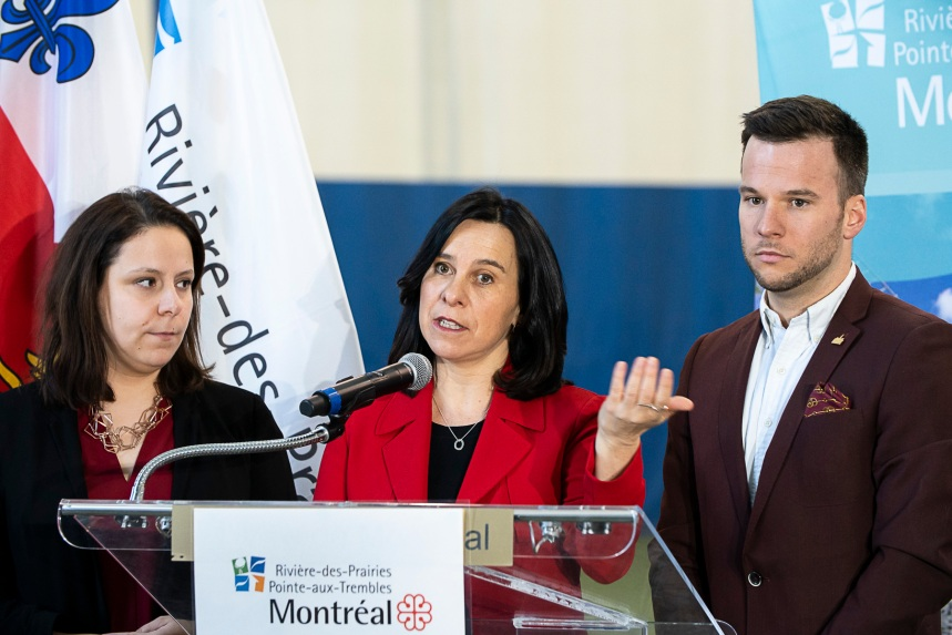 Valérie Plante et Caroline Bourgeois inaugurent les nouvelles installations du Centre sportif et culturel de St-Jean-Vianney