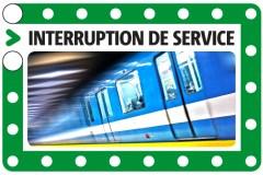 Interruption de service sur la ligne verte