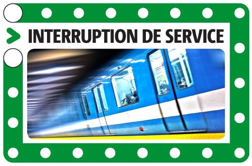 Reprise du service après une interruption sur la ligne verte