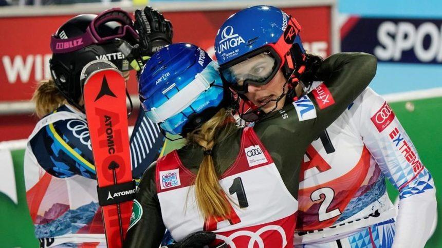 Vlhova gagne un deuxième slalom consécutif; Shiffrin termine troisième