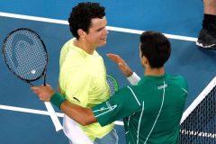 Raonic est battu par Djokovic en quarts de finale aux Internationaux d'Australie