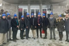 Levée du drapeau blanc à la mairie de Verdun pour la santé mentale