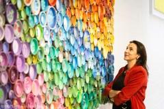 Une oeuvre aux couleurs de l'environnement au Centre Anjou