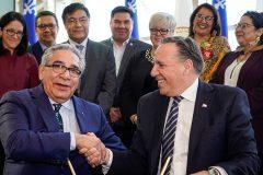 Québec et les Cris signent un protocole d'entente sur le développement économique