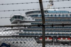 Navire Diamond Princess amarré au Japon: 454 infectés au COVID-19, lundi