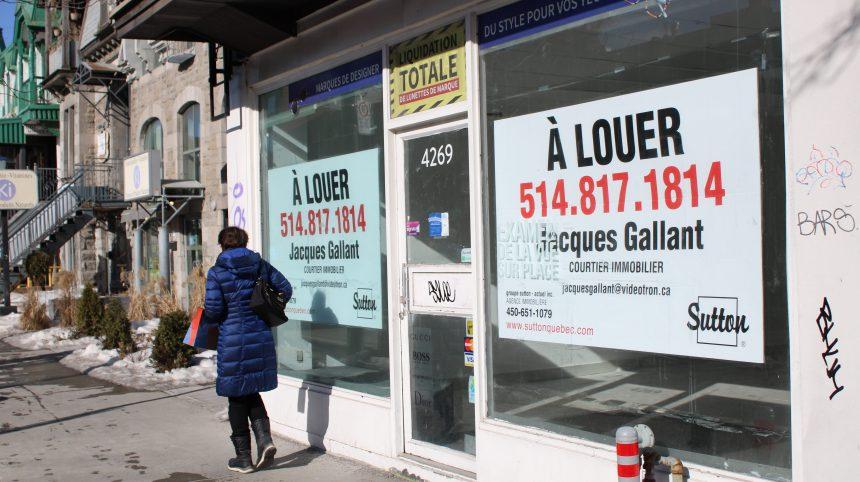 Locaux vacants: la Ville de Montréal bonifie l'aide aux sociétés de développement commercial