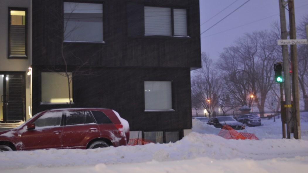 Un logement l'hiver.
