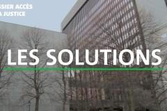 Les solutions en accès à la justice