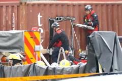 Un travailleur meurt coincé dans un conteneur à Saint-Laurent