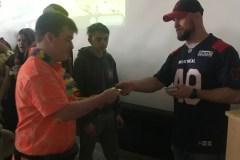 Un joueur des Alouettes parle du décrochage à la Beurling Academy