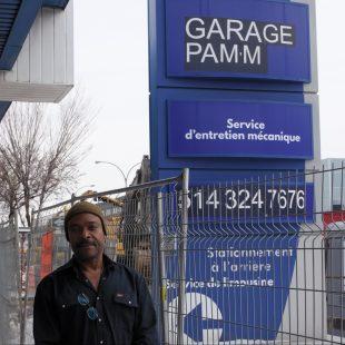 Le garage Pam'm est situé sur le boulevard Pie-IX.