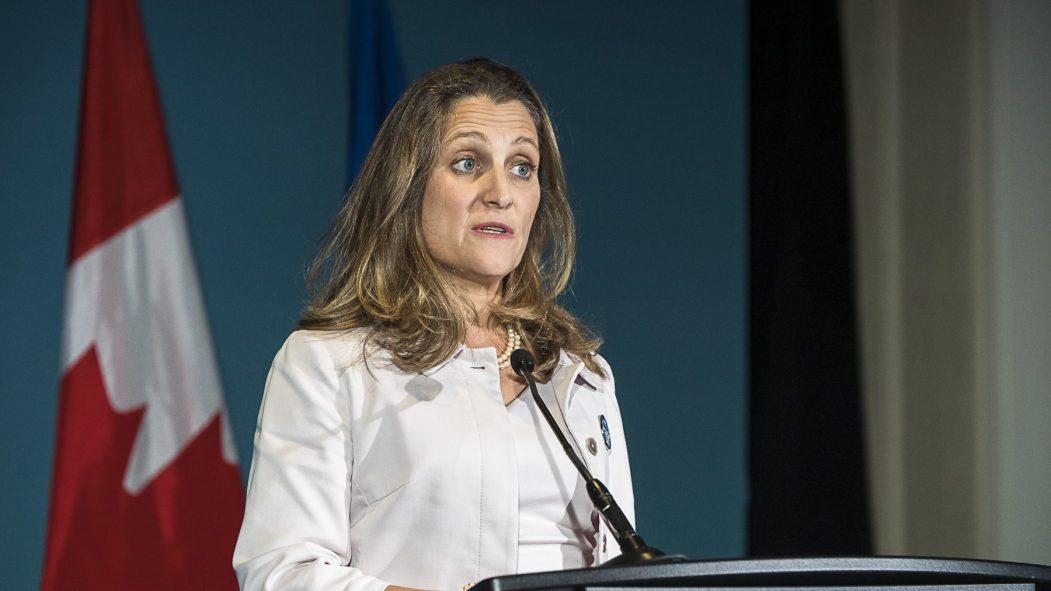 La vice-première ministre Chrystia Freeland