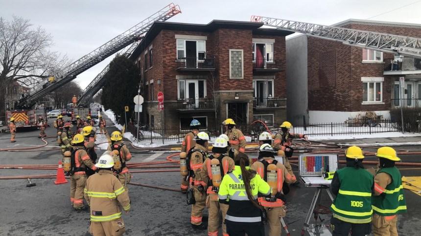 Incendie sur le boulevard Champlain