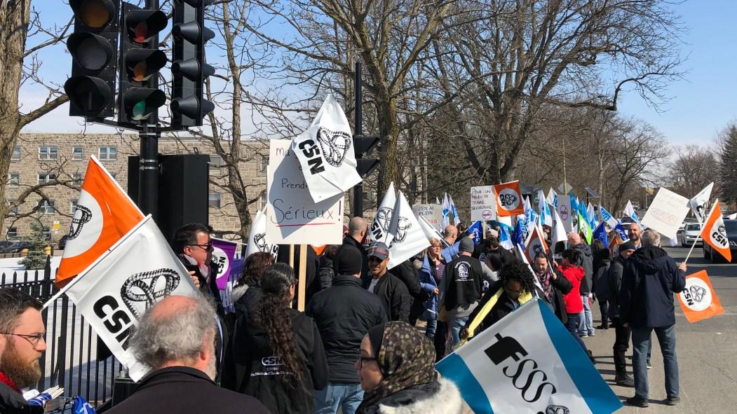 Manifestation des employés du pavillon Albert-Prevost pour plus de sécurité