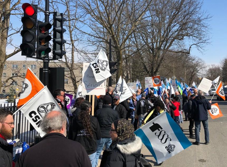 Manifestation du personnel du pavillon Albert-Prevost