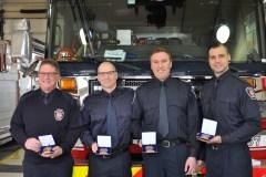 Des pompiers honorés à la caserne 67 de L'Île-des-Sœurs