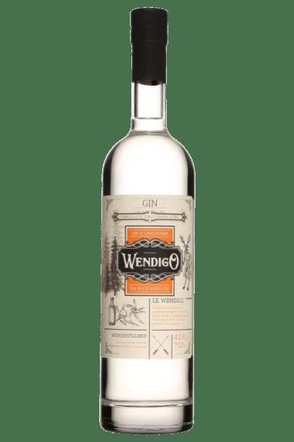 Bouteille de gin Wendigo