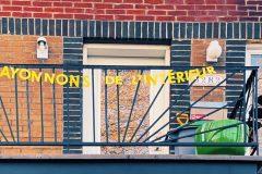 Des banderoles pour faire parler les balcons