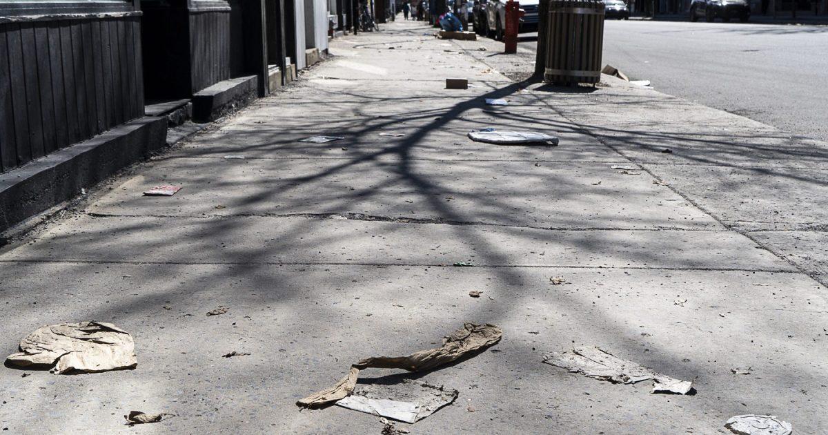 Montréal: les rues et les trottoirs plus sales que jamais