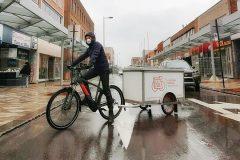 Livraison «écolo» à vélo pour combattre la pandémie
