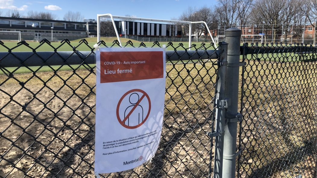Confinement : des sections de parcs fermées