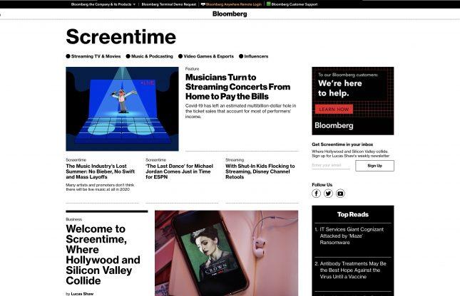 Bloomberg lance Screentime, une section divertissement avec Jason Schreier pour le jeu vidéo