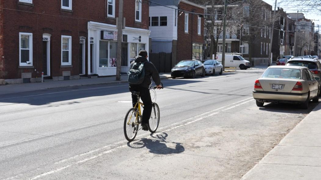 La piste cyclable de la rue de Verdun ne comptabilisera pas l'achalandage des cyclistes.