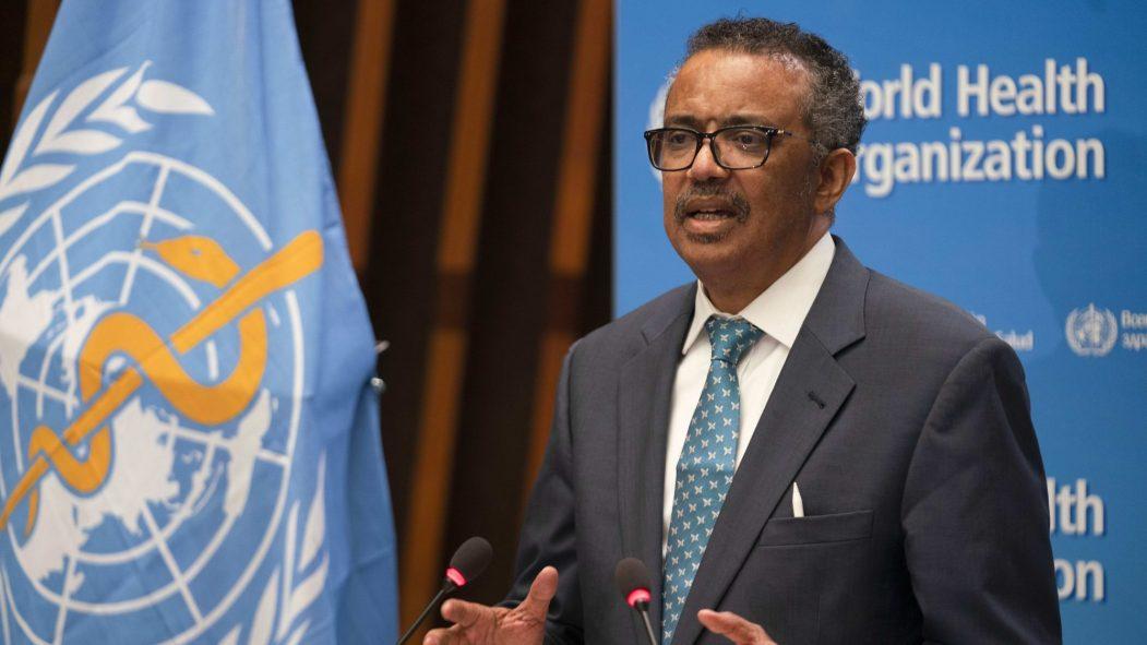 Le directeur général de l'OMS, Tedros Adhanom Ghebreyesus