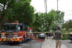 En images : un immeuble résidentiel prend feu sur Henri-Julien