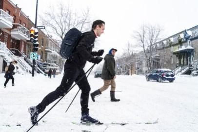 Lendemain d'une tempête de neige qui a laissé plus de 35cm de neige sur Montréal/Josie Desmarais
