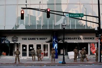 Atlanta: des dommages au Temple de la renommée du football universitaire