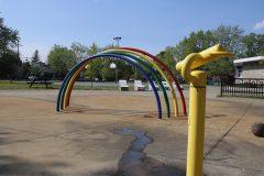 Réouverture des jeux d'eau à Saint-Laurent