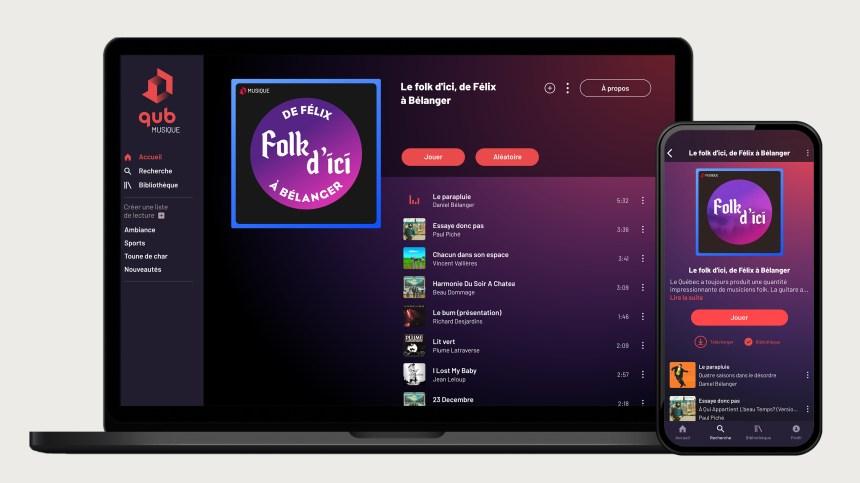 Québecor lance un Spotify québécois, QUB Musique