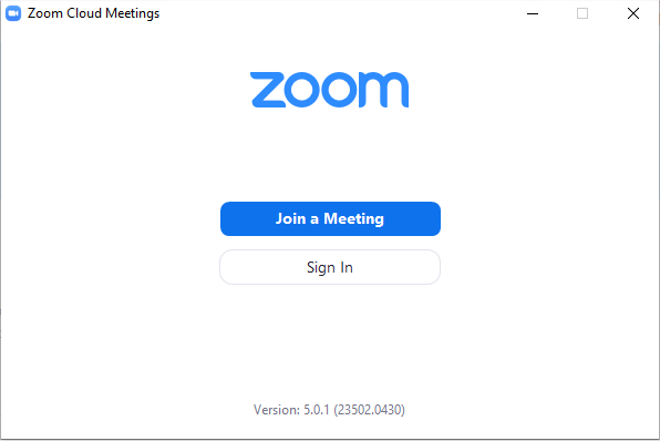 Version Zoom 5.0