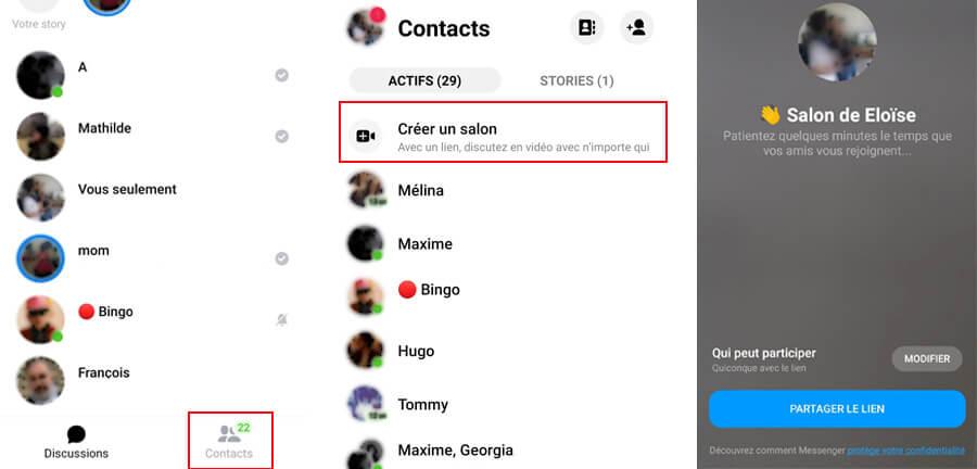 comment faire messenger rooms messenger