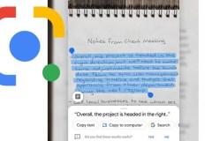 Google Lens permet maintenant de copier vos notes manuscrites vers un ordi