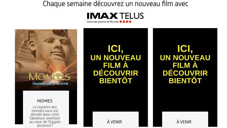 films imax gratuits