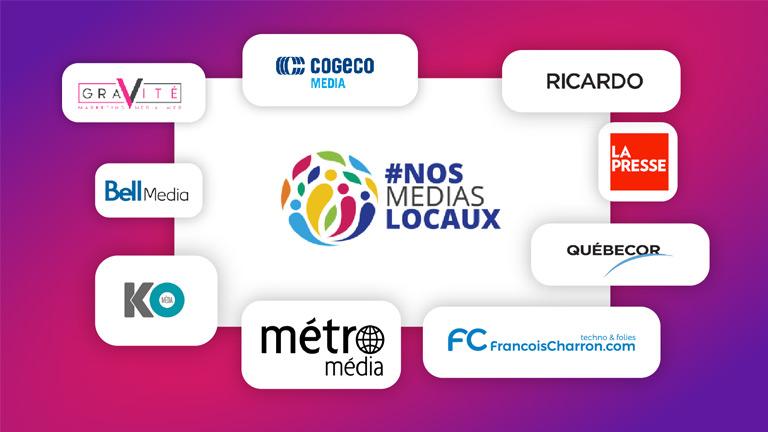 #Nosmediaslocaux regroupement médias québécois canadiens