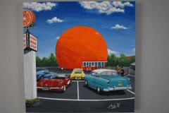 Orange Julep dans l'œil d'un peintre montréalais