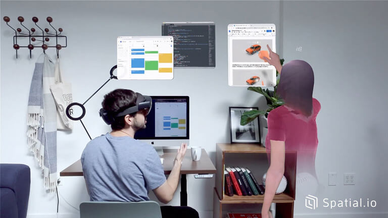 spatial vidéoconférence réalité augmentée