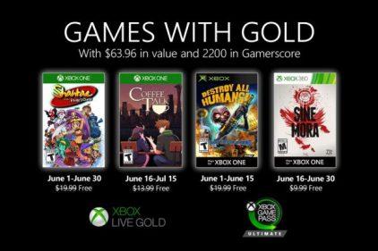 Xbox Live Gold : voici les gratuités de juin 2020