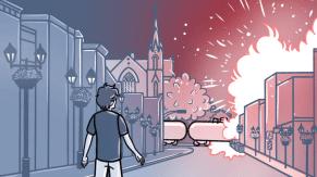 Image tirée de la bande dessinée «Lac-Mégantic: la dernière nuit»