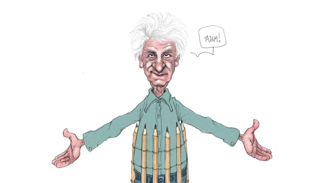 Autoportrait du caricaturiste Serge Chapleau