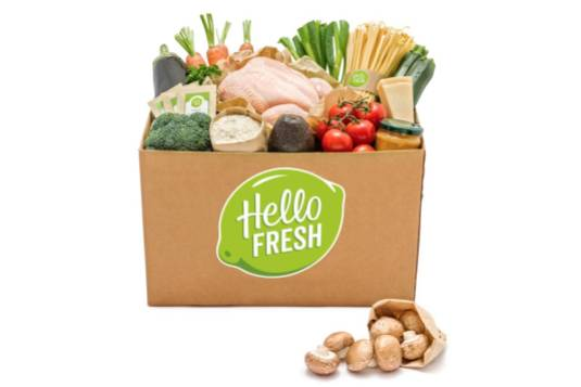 Boîte d'aliments HelloFresh